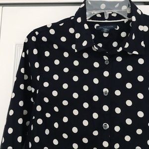 Tommy Hilfiger | Polka Dot Fitted Button Down